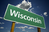 Wisconsin Road Sign — Stock Photo
