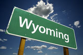 Wyoming Road Sign — Stock Photo