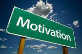 Motivation vägskylt över himlen — Stockfoto