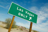 Green Las Vegas Road Sign — Stock Photo