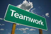 Teamwork Road Sign — Stock Photo
