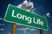 Long Life Green Road Sign — Stock Photo
