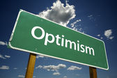 Optimism Green Road Sign — Stock Photo