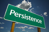 Persistence Green Road Sign — Stock Photo