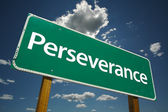 Perseverance Green Road Sign — Stock Photo