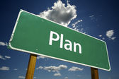 Plan Green Road Sign — Stock Photo