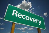 Recovery Green Road Sign — Stock Photo