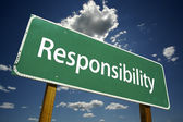 Responsibility Road Sign — Stock Photo
