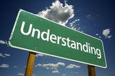 Understanding Green Road Sign — Stock Photo