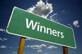 Winners Road Sign — Stock Photo