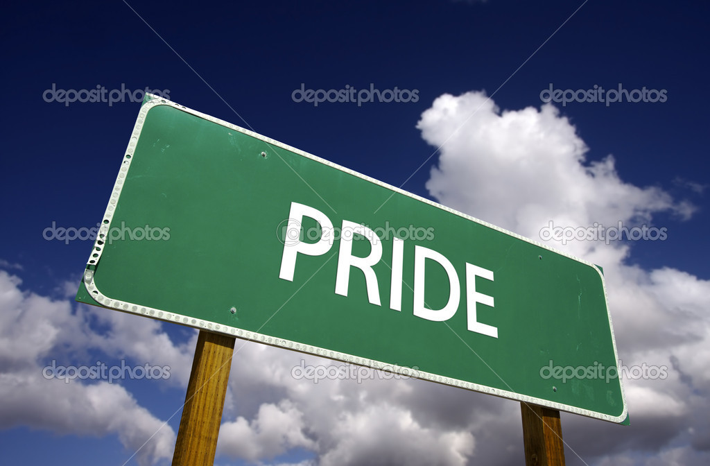 Pride Road Sign - 7 Deadly Sins Series — Lizenzfreies Foto #2328766