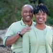 Affectionate African American Couple — Stock Photo