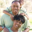 Happy African American Family — Stock Photo #2333116