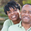Affectionate African American Couple - Stock Photo