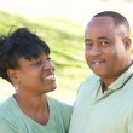 Happy Affectionate Couple Portrait — Stock Photo