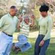 Happy African American Family — Foto Stock