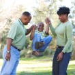 Happy African American Family — Stock Photo