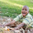 Young African American Boy Having Fun — Stock Photo