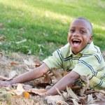 Young African American Boy Having Fun — Stock Photo