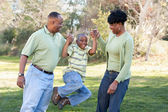Feliz família afro-americana — Foto Stock