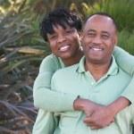 Retrato de la feliz pareja cariñosa — Foto de Stock