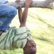 Young Boy Having Fun In The Park — Stock Photo