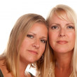 Two Blonde Sisters Portrait Isolated — Stock Photo