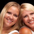 Two Beautiful Smiling Sisters Portrait — Stock Photo