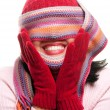 Attractive Woman With Colorful Scarf — Stock Photo #2344363