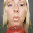 Stock Photo: Beautiful Woman With Apple
