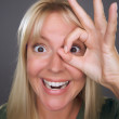 Woman with Okay Sign in Front of Face — Stock Photo #2344616
