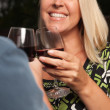 Blonde Wine Toast at a Party — Stock Photo #2344780