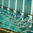 Row of Cruise Ship Lounge Chairs Abstract Image - ストック写真