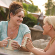 Stock Photo: Girlfriends Enjoy A Conversation