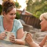 Girlfriends Enjoy A Conversation — Stock Photo