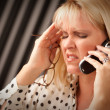 Stressed Woman Using Cell Phone — Stock Photo #2345939