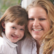 Young Mother and Daughter Enjoy a Personal Moment — Stock Photo