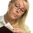 Attractive Woman Reading — Stock Photo #2346546