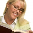 Attractive Woman Reading with Book — Stock Photo #2346593
