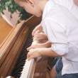 Brother and Sister Playing the Piano Together — Stock Photo #2347062