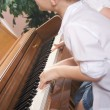 Brother and Sister Playing the Piano Together — Stock Photo #2347112