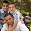 Father and Sons in the Park — Stock Photo #2347736