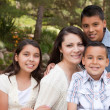 Stock Photo: Happy Hispanic Family In Park