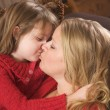 Mother and Daughter Share a Kiss — Stock Photo #2347784