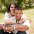 Happy Hispanic Couple in the Park — Foto Stock #2347914