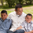Father and Sons in the Park — Stock Photo #2348030