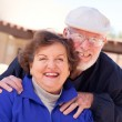 Royalty-Free Stock Photo: Happy Senior Adult Couple Enjoying Life