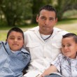 Father and Sons in the Park — Stock Photo #2348137