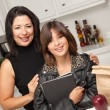 Proud Hispanic Mom with Daughter — Stock Photo