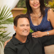 Happy Attractive Hispanic and Caucasian Couple — Stock fotografie